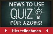 News to use Banner eines Quizzes für Azubis